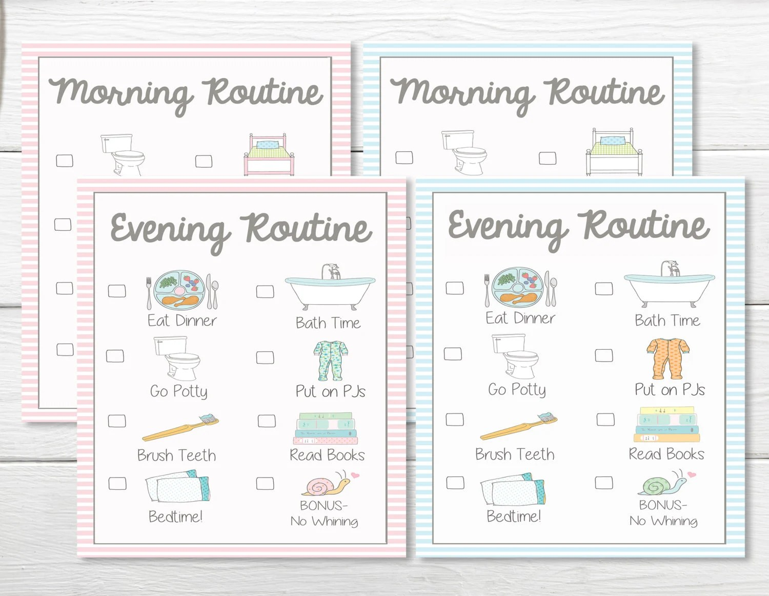 Printables Daily Young Child Toddler Girls Amp Boys Chore