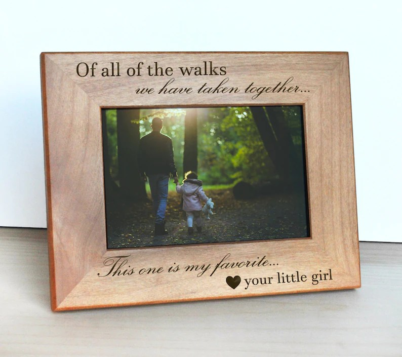 personalized engraved wood picture