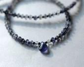 Iolite gemstone necklace...
