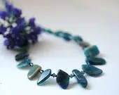 Gemstone necklace with kyanite and apatite