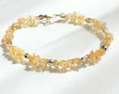 Citrine bracelet, arm candy bracelet, stackable bracelet, friendship bracelet