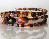 Jasper bracelet, memory wire bracelet