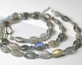 Labradorite and crystal necklace