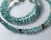 Apatite gemstone necklace