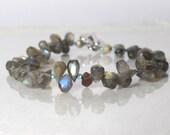 Labradorite gemstone bracelet, friendship bracelet