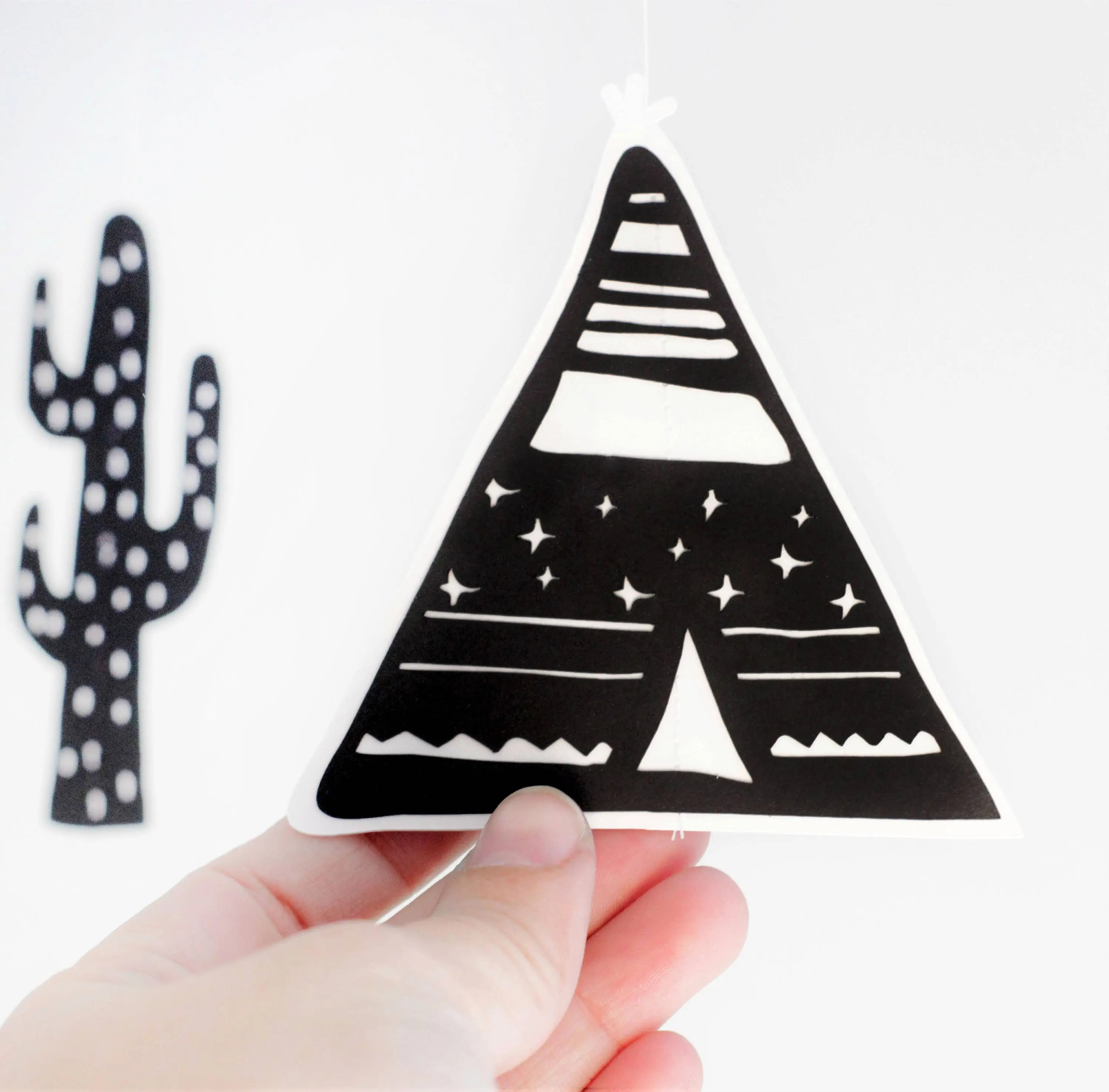 Personalised baby mobile teepee mobile tribal mobile cactus image 4