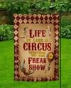 Circus Freak Show Garden Flag Template Sublimation Transfer Etsy