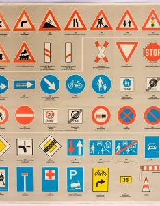 also road signs educational chart wall rh josefandjosefinetternbyetsy