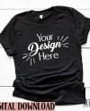 Bella Canvas 3001 C Shirt Mock Up Add Your Design Flat Lay Etsy