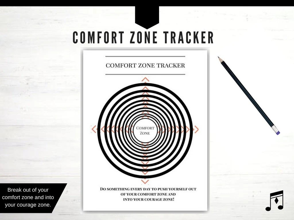 Comfort Zone Poster Comfort Zone Tracker Printable Tracker