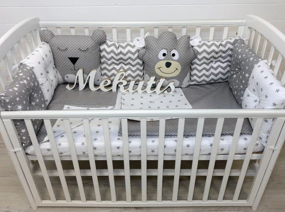 Cot Bumper Baby Bedding Set Baby Gifts Crib Bumper Baby Crib Etsy