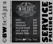 custom & service sign barber