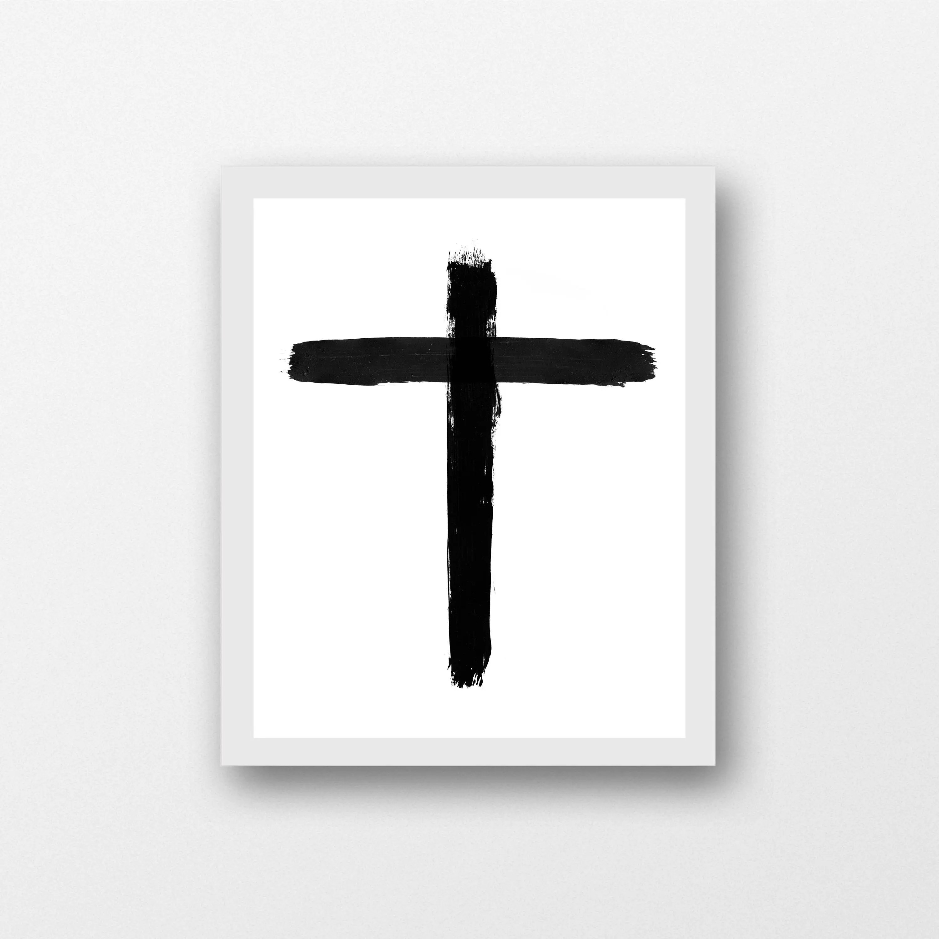 christian print bible cross