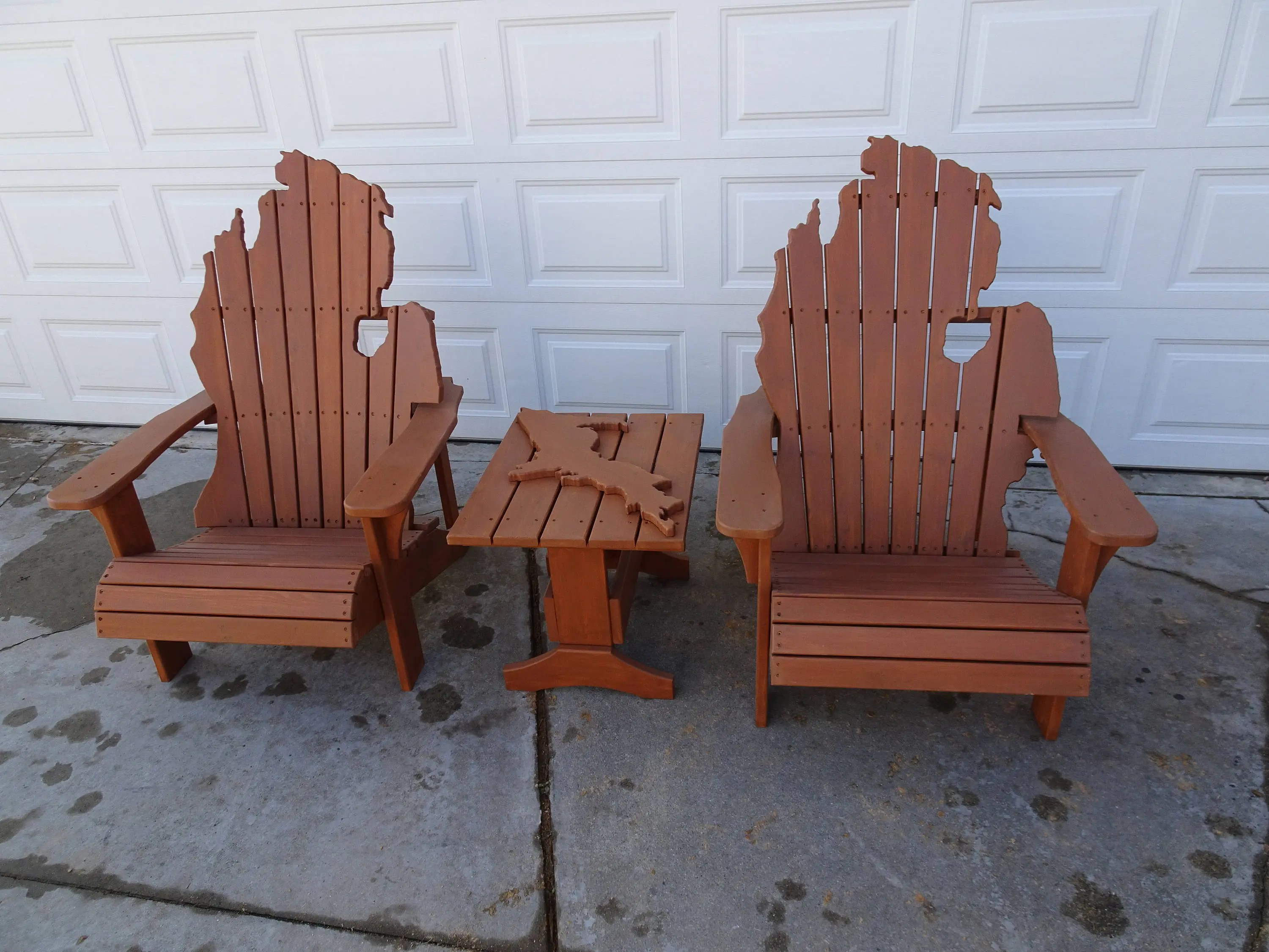 michigan adirondack chair wooden stool best hand select red cedar etsy image 0