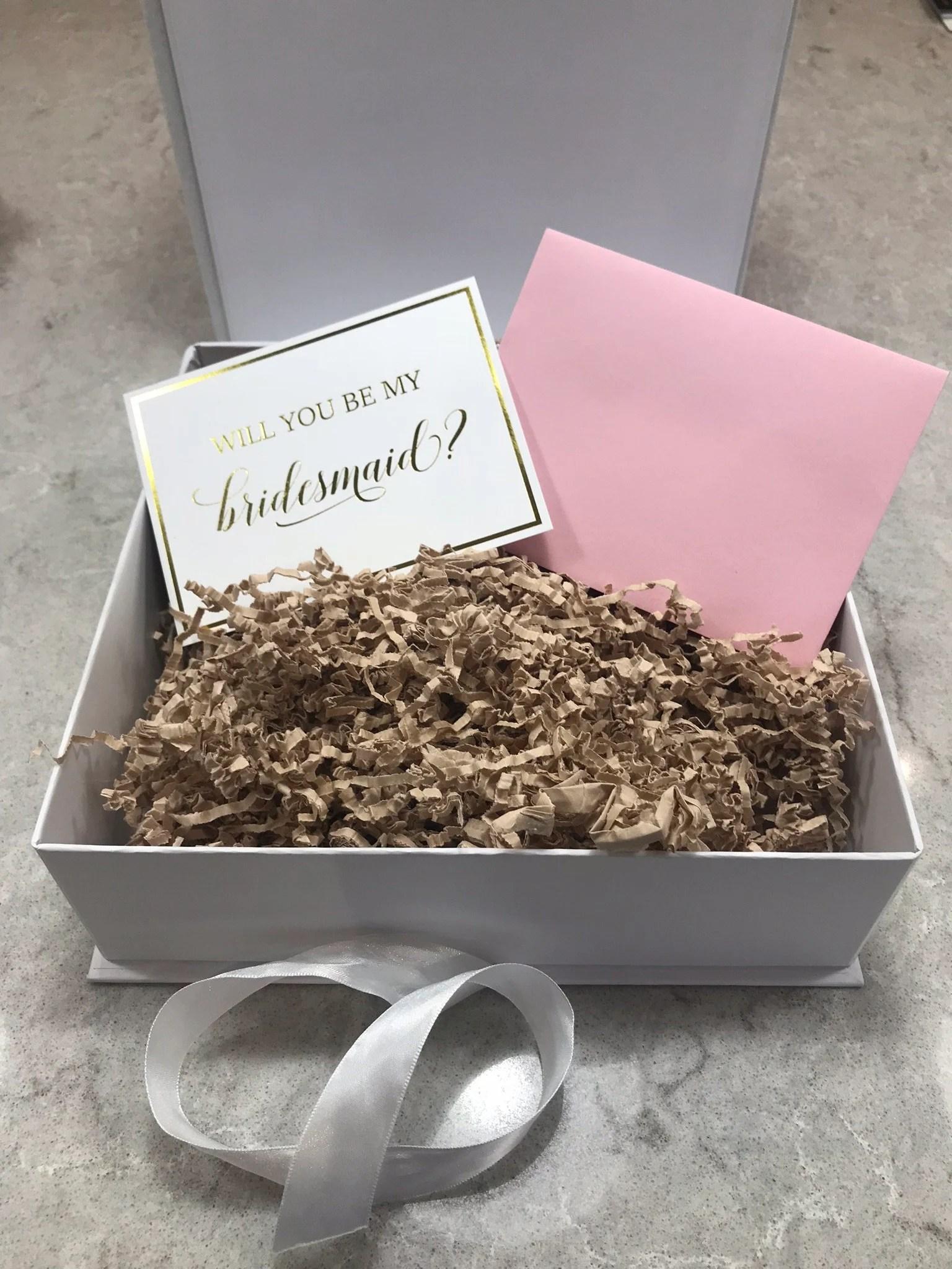Bridesmaid Proposal Card Will You Be my Bridesmaid Bridal image 2