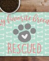 Rescue Pet Food Placemat Pet Food Mat Dog Placemat My Etsy