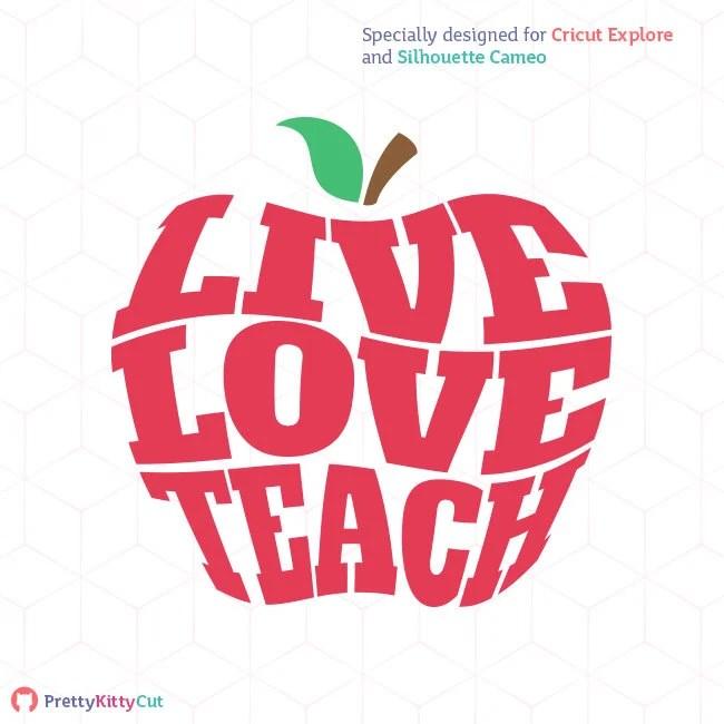 live love teach svg