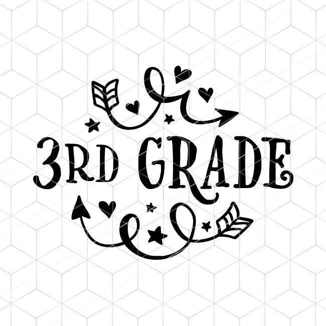 3rd Grade SVG School Fun Arrows Cricut Third Grade Instant