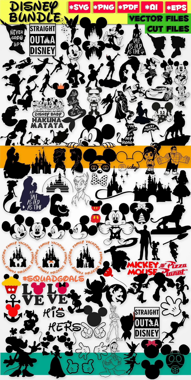 Disney Silhouette Designs