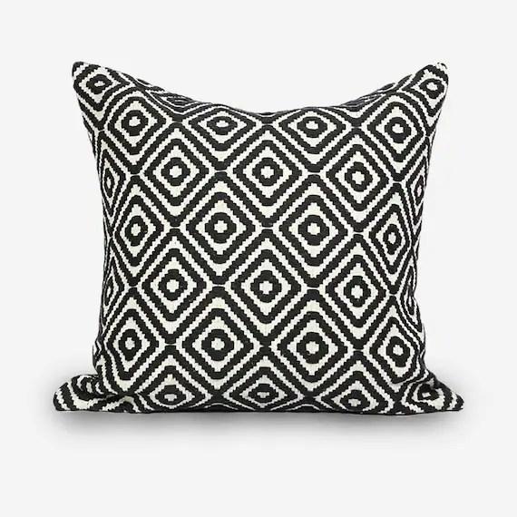 black euro pillow covers 26 x 26 throw pillow covers 18x18 geometric euro shams 28x28 couch cushion cover 20x20 16x16 pillow covers boho