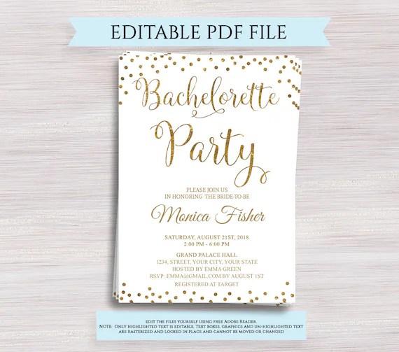 editable bachelorette party invitation