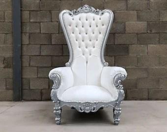 how to make a queen throne chair bath for elderly etsy pre order pretoria king wedding 180cm silver