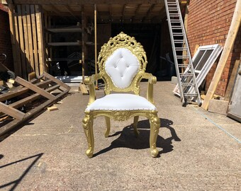 kings chair for sale denver broncos throne etsy pre order riga wedding gold
