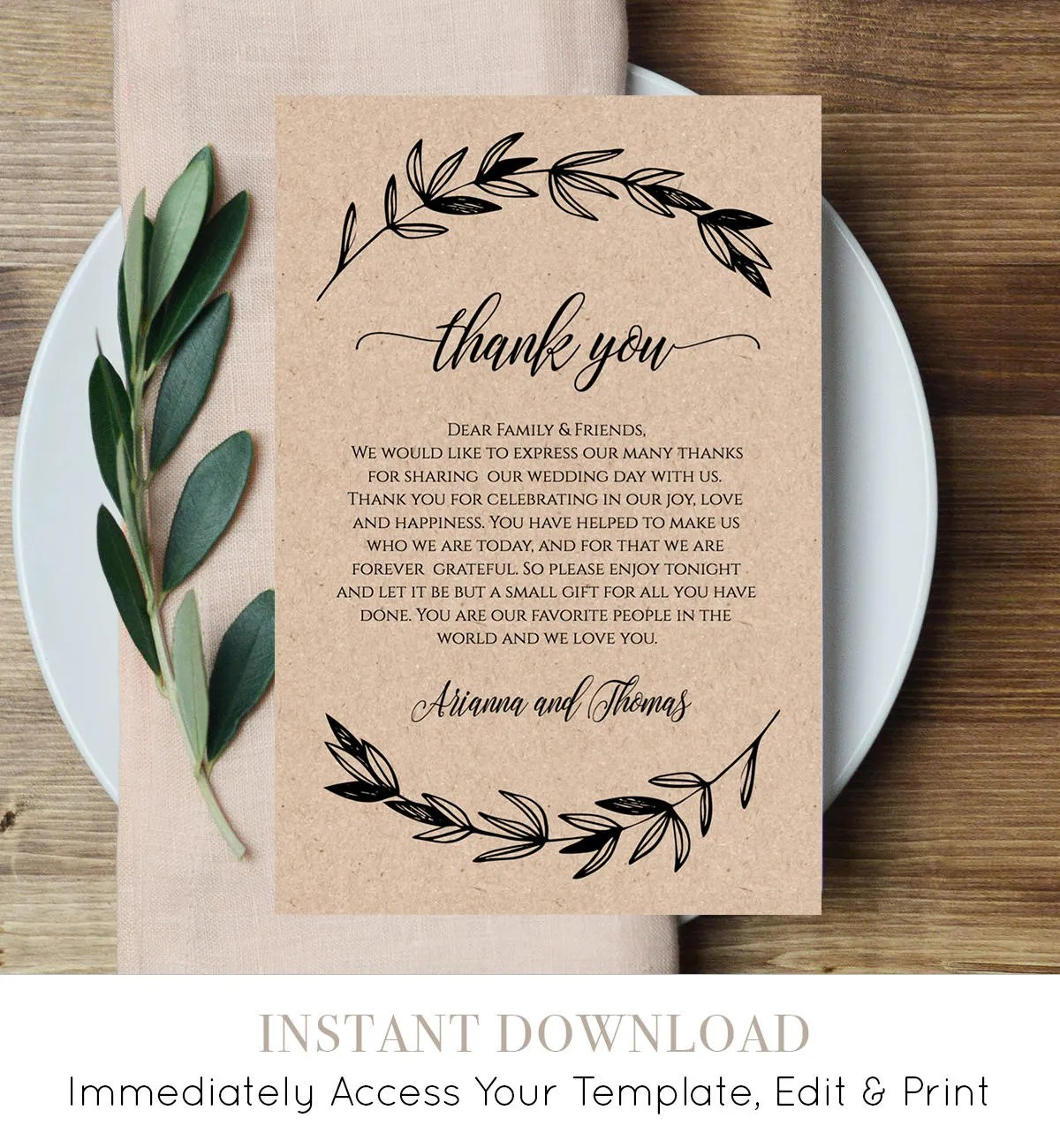 Wedding Invitation Thank You Letter Image collections - Letter ...