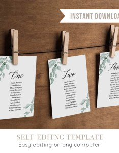 also wedding seating chart template hanging cards rh mintypaperie