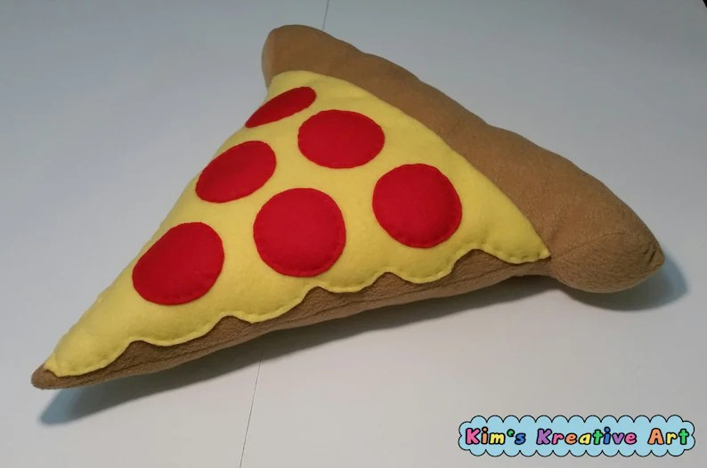 cute pepperoni pizza pillow