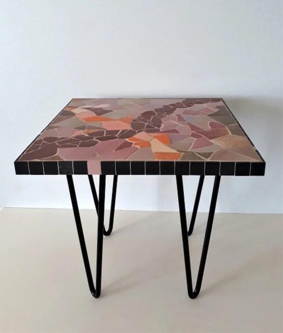 table basse en mosaique d emaux de briare