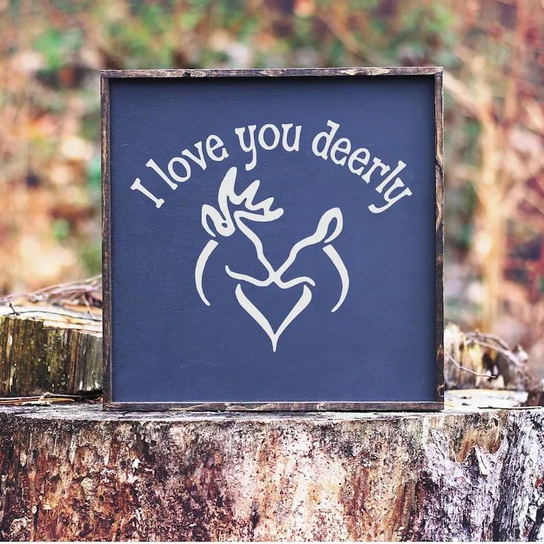 Download Deer svg Buck and Doe Kissing svg I Love You Deerly svg | Etsy