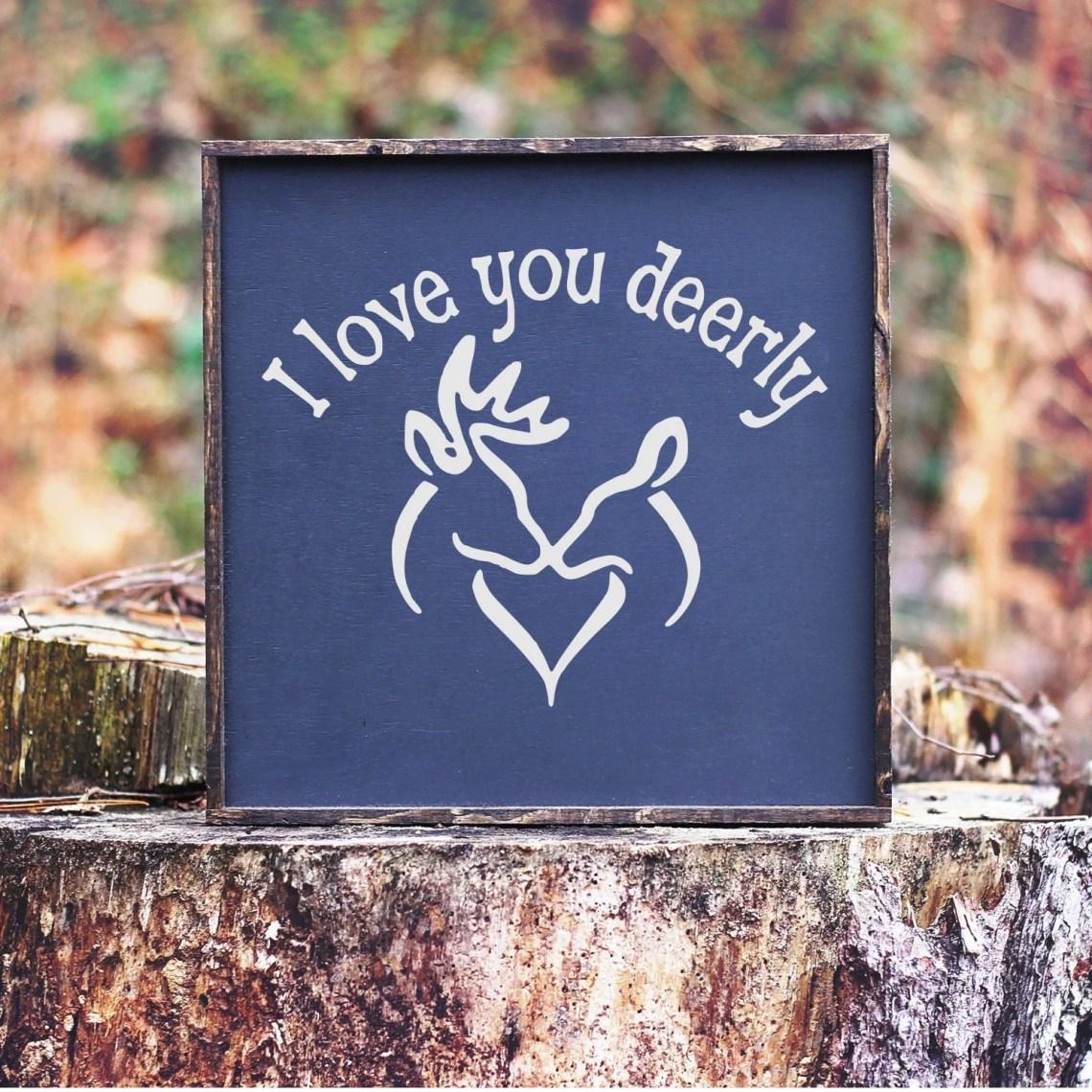 Download Deer svg Buck and Doe Kissing svg I Love You Deerly svg   Etsy