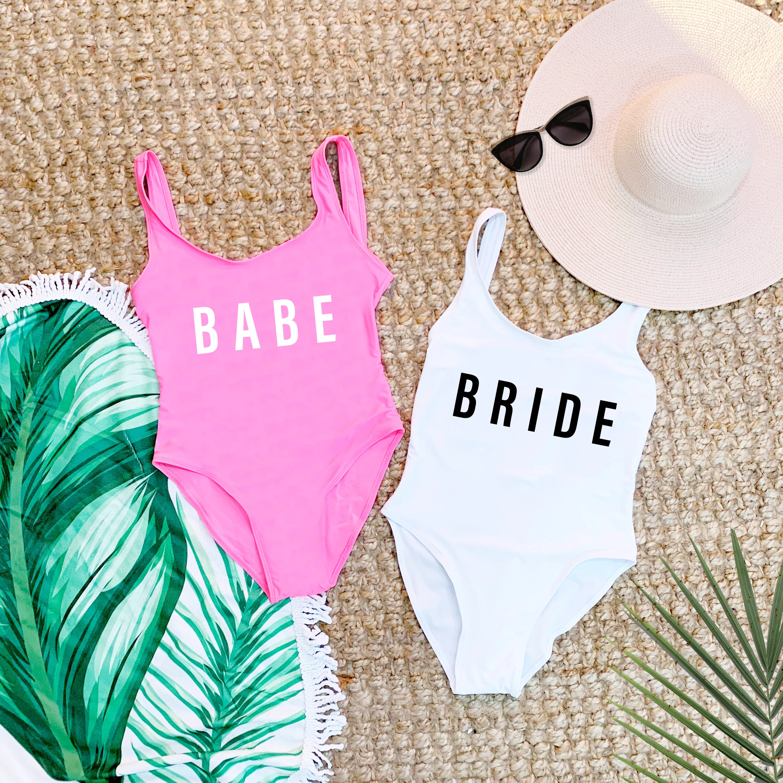 Beach Bachelorette Swimsuits Bathing Suits Honeymoon image 1