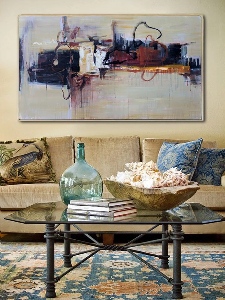 contemporary artwork living room navy exchange furniture abstract oil painting art wall etsy image 0