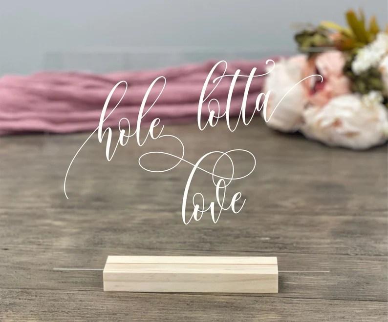 Download Donut Bar Hole Lotta Love Table Sign Acrylic | Etsy