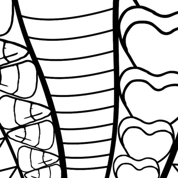 Sweet Jelly Beans and Candy Adult coloring page printable