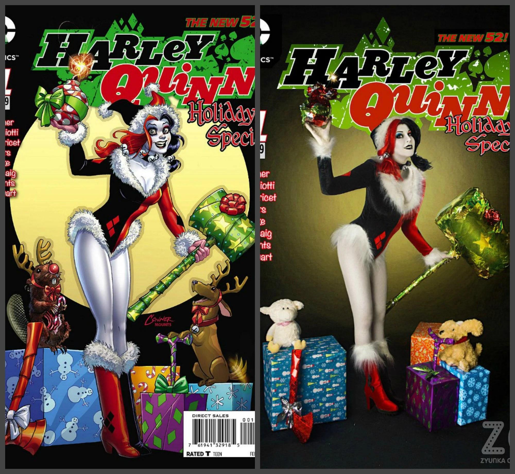 harley quinn christmas cosplay