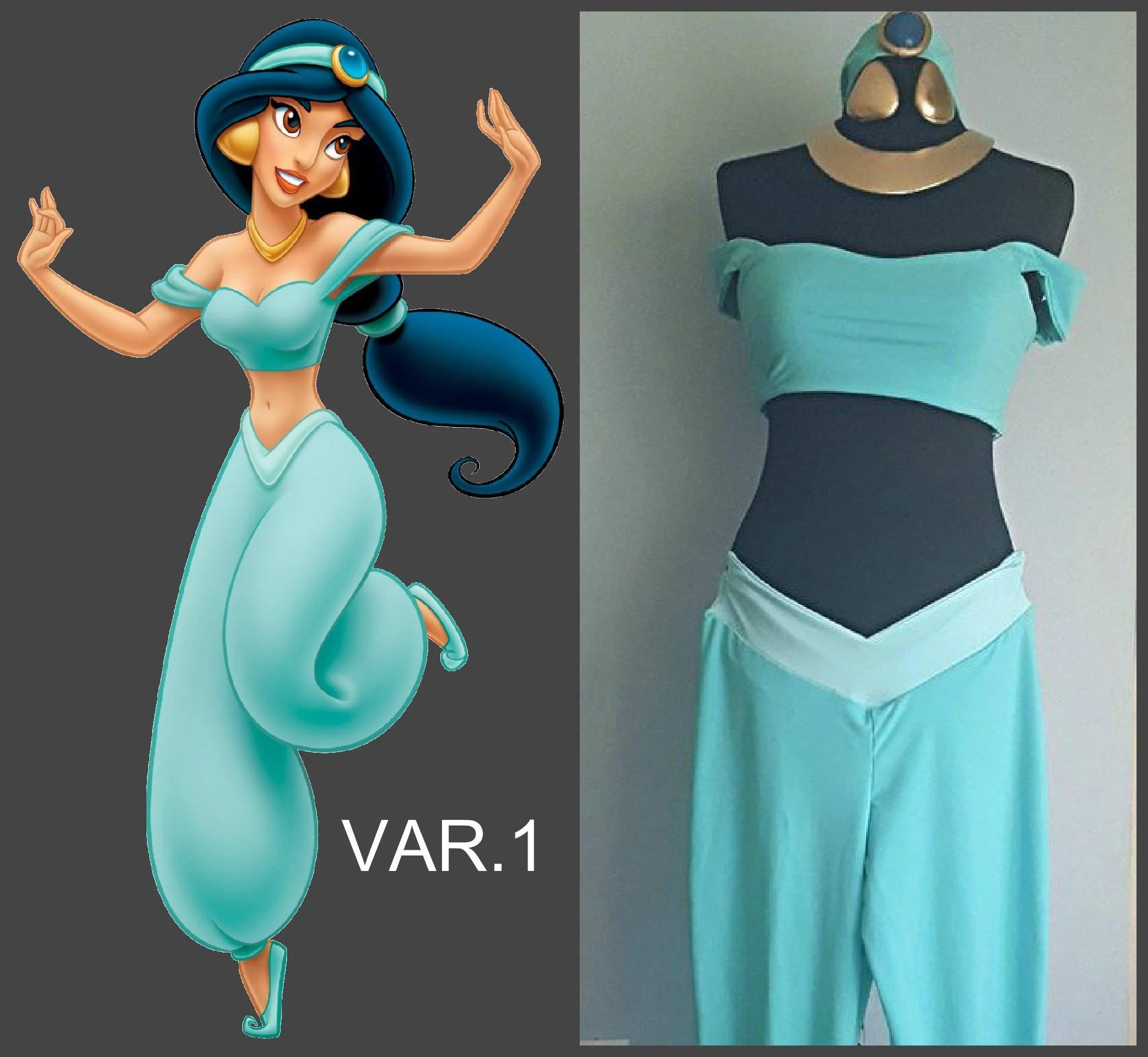 princess jasmine cosplay costume