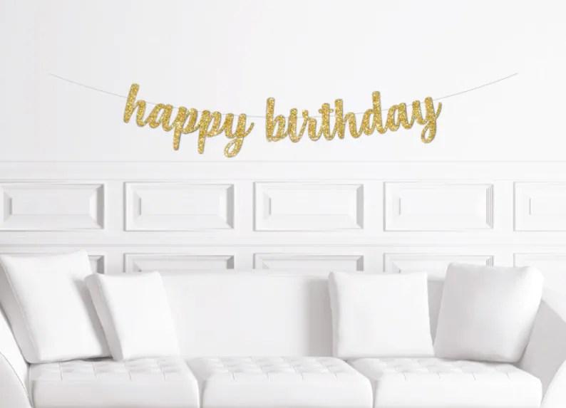 happy birthday cursive banner