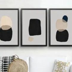 Modern Living Room Wall Art Light Blue Gray Walls Etsy Abstract Print Set Of 3 Prints Geometric Downloadable Minimal Triptych Large Artwork 18x24
