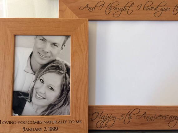 personalized solid wood frame