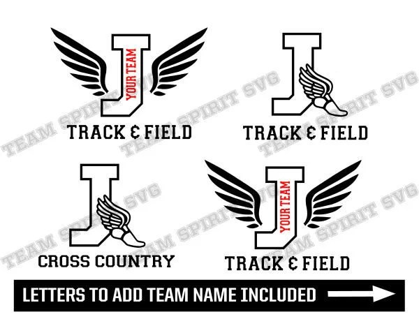 Track and Field SVG Cross Country svg Letter J Download