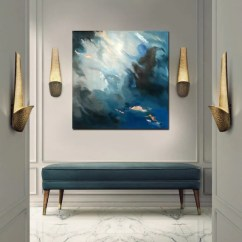 Contemporary Artwork Living Room Modern Decor Ideas Large Abstract Painting Original Wall Art On Etsy