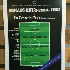 Football Pitch Diagram To Print Cub Cadet Deck Belt The Manchester Music Allstars Red A3 On Etsy Black 300gsm Art Card