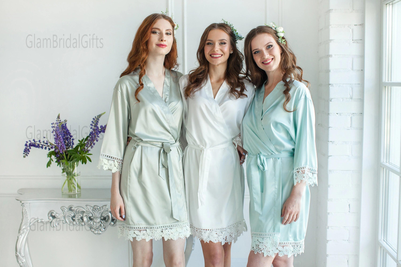 Tropical Wedding Bridal Robes  Bridesmaid Gifts Greenery image 6