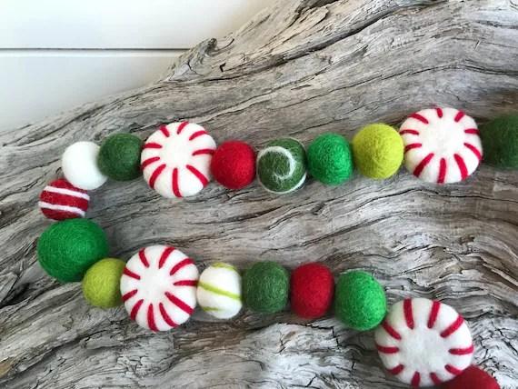 Peppermint Christmas Garland