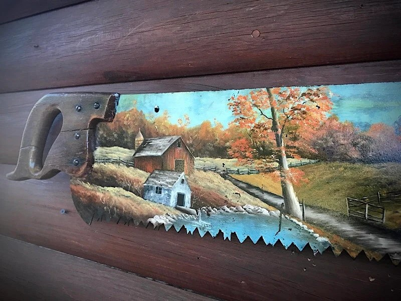 Old Saw Blades Painting