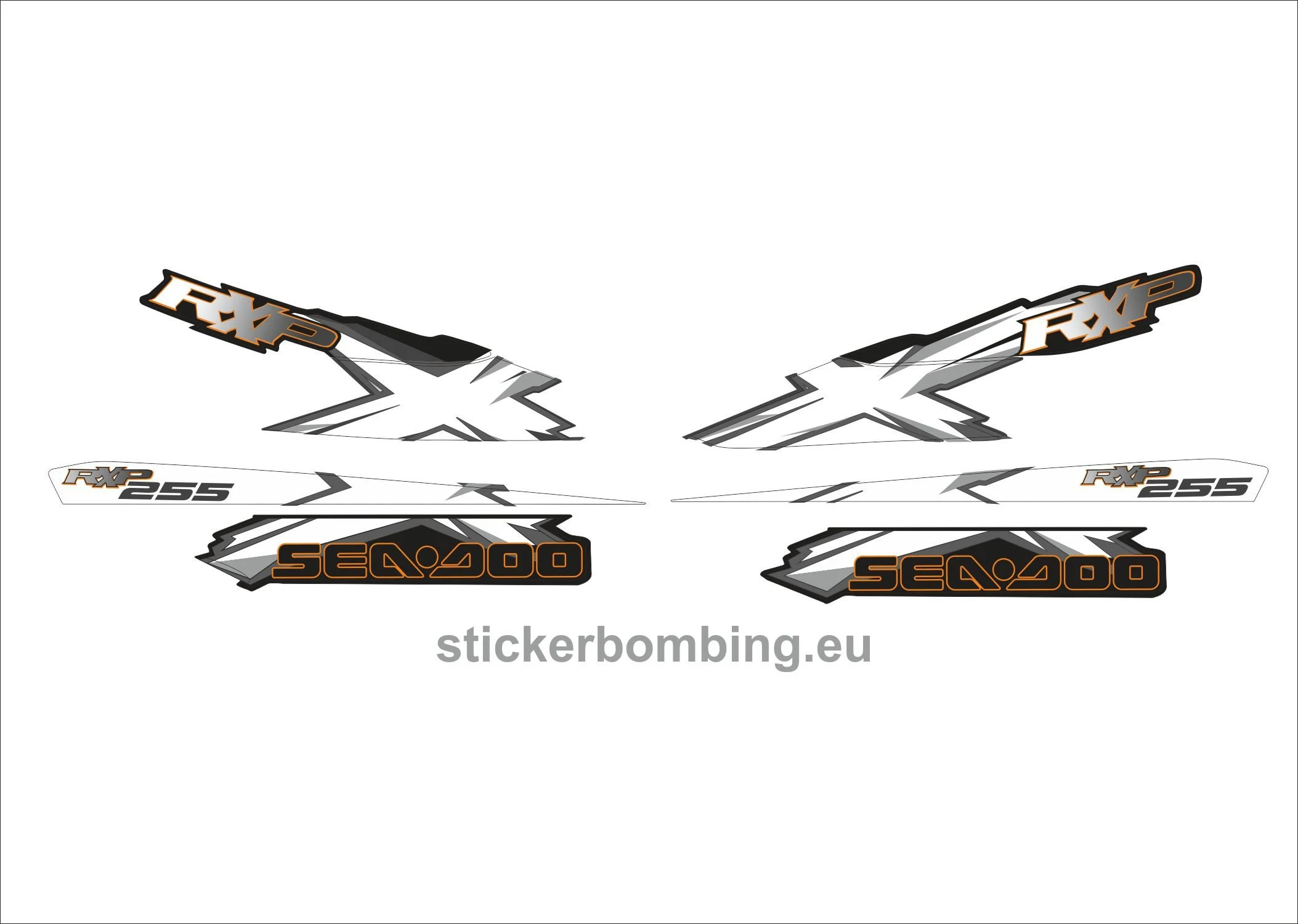 Sea-Doo RXP-X 255 model 2008-2009 Jet Ski Full Set Stickers