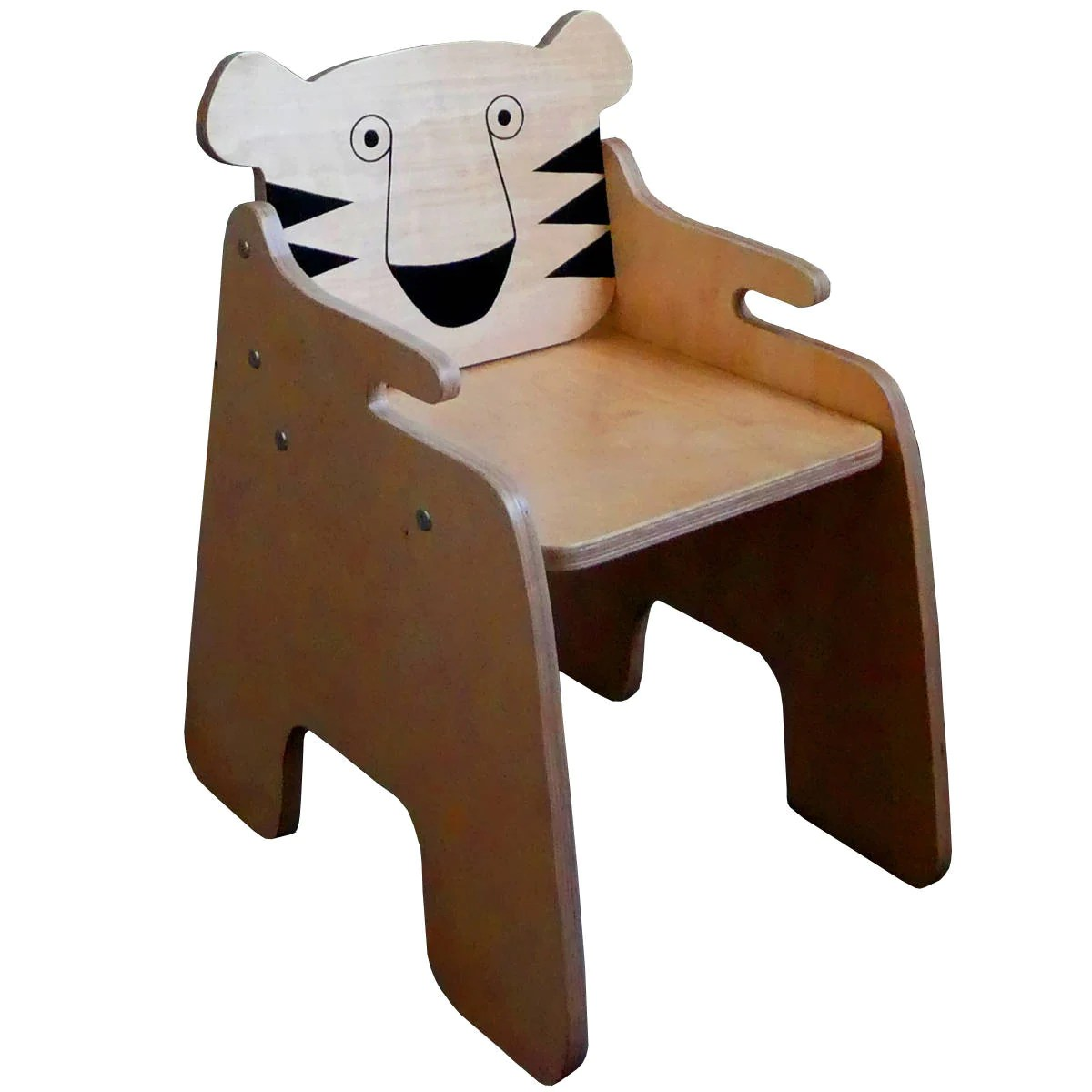 Toddler Wooden Chair Tiger Chair Toddler Chair Kids Wooden Chair Safari Nursery Jungle Kids Bedroom Animal Chair Kids Furniture Handmade Eco Friendly